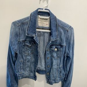 Garage Jean jacket - faded and stressed look